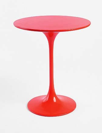 Red tulip side table from Urban Outfitters.