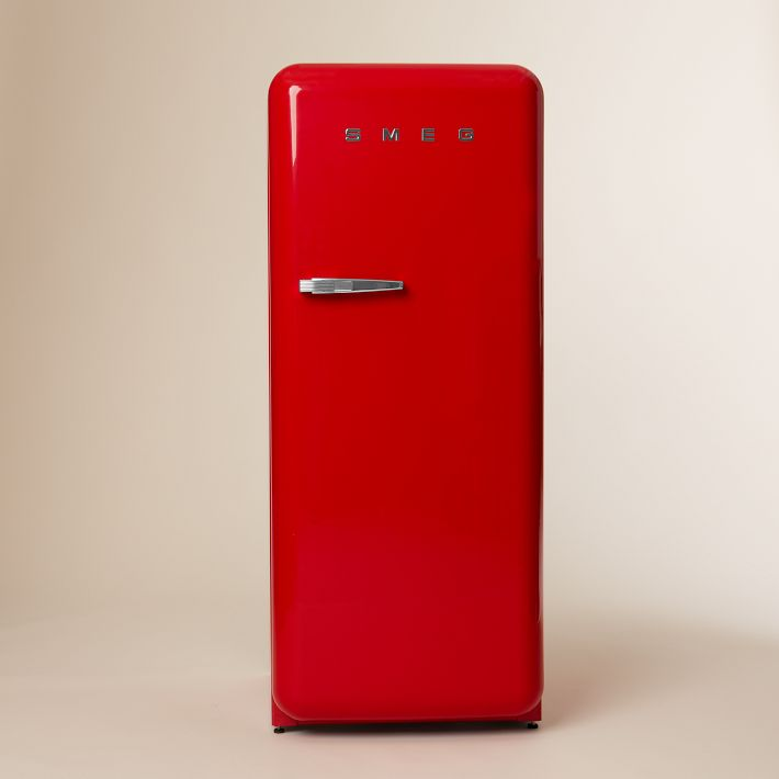Red SMEG refrigerator from West Elm.