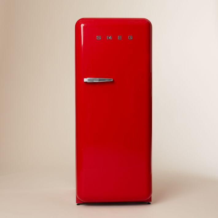 Red SMEG refrigerator from West Elm.