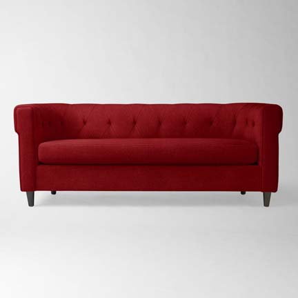 Chester tufted upholstered sofa from West Elm.