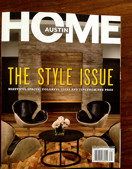 Austin HOME Magazine's Spring 2013 cover.