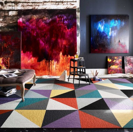 Triangles FLOR rug