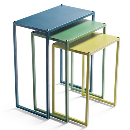 Set Of Three Hailey Metal Nesting Tables ...