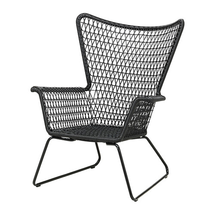 HÖGSTEN Armchair in black from Ikea ...