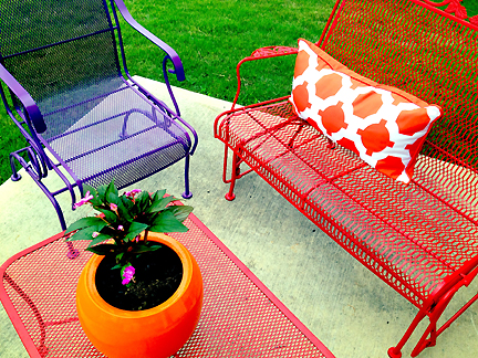 exciting colorful modern furniture | Patio Perfection | Austin Interior Design by Room Fu ...