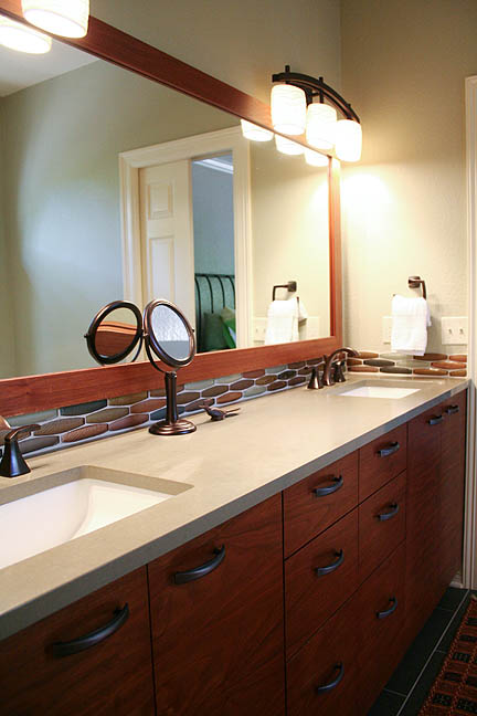 Bathroom Vanity Lights Austin Tx chic master bath with fun, mid-century flair – austin interior
