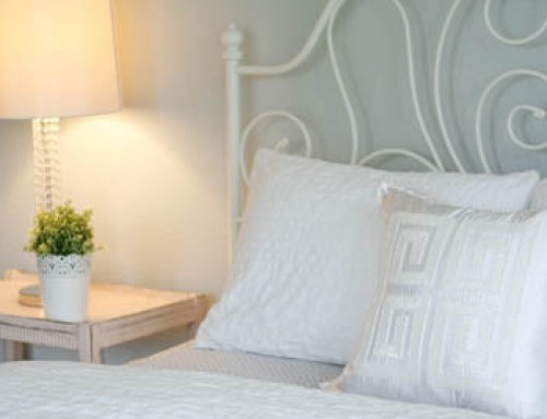 Soothing, All-White Guest Bedroom