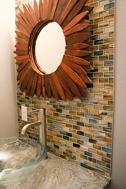 glass-tile-natural-colors-soapstone-countertops-teak-wood-starburst-mirror-austin-powder-room2_web