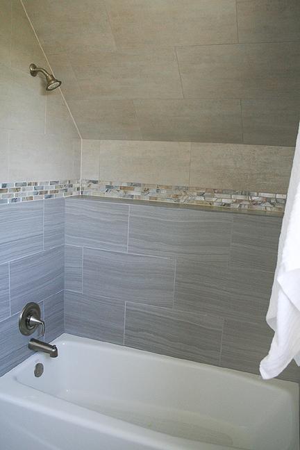 Agate Glass Tile Amid Gray And Beige Bathroom Remodel Austin Fascinating Austin Bathroom Remodel Creative