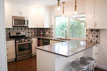 Concrete Tiles Create A Warm Kitchen Backsplash Austin Interior Design By Room Fu Knockout Interiors