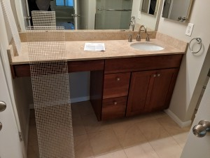 Austin Interior Decorating Bathroom Remodel Travertine Countertops